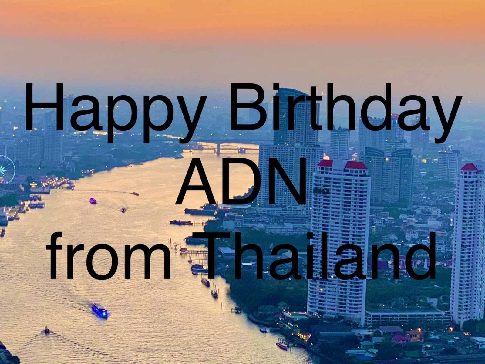 Birthday Wishes from Thailand