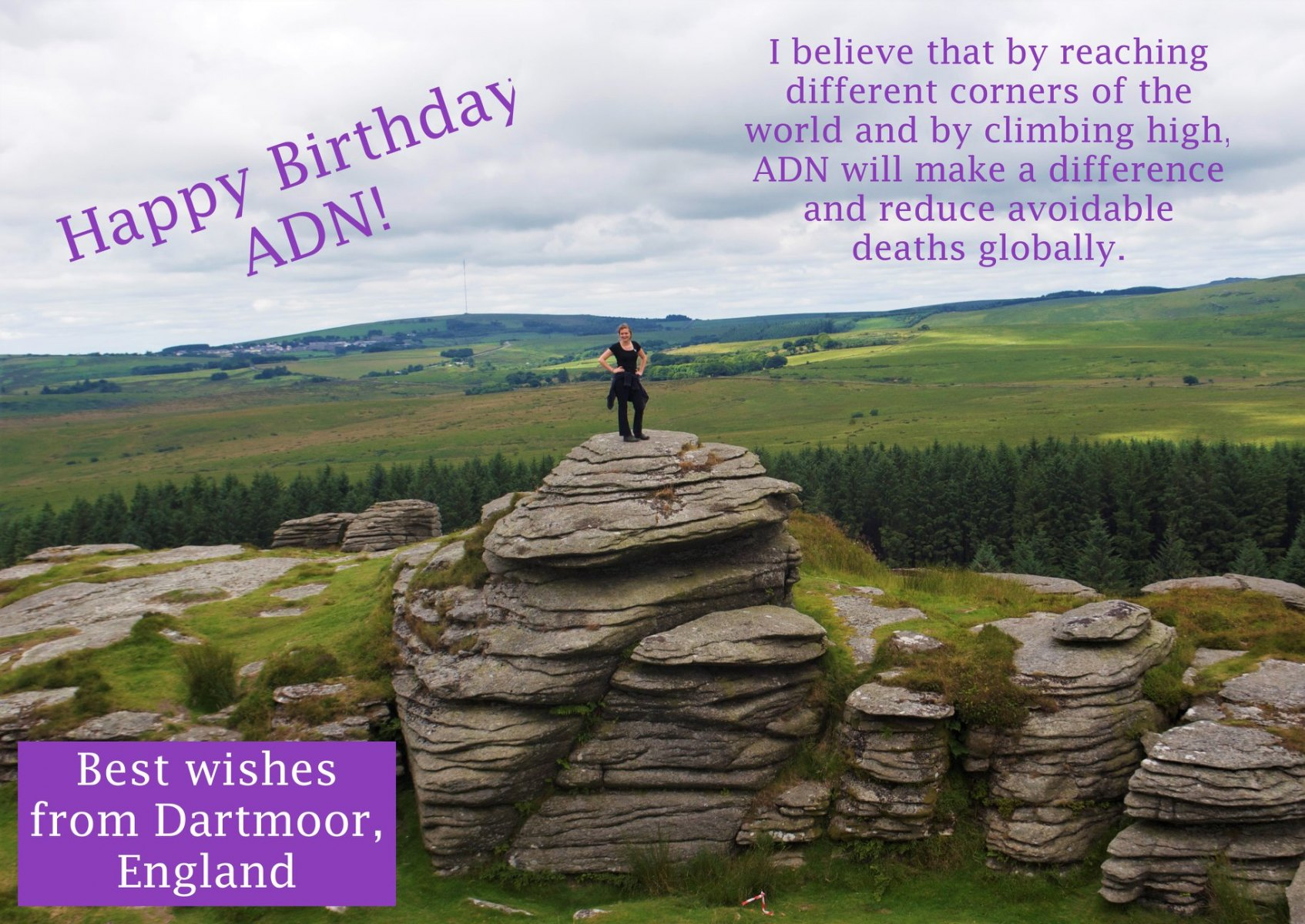 Birthday Wishes from Dartmoor, UK